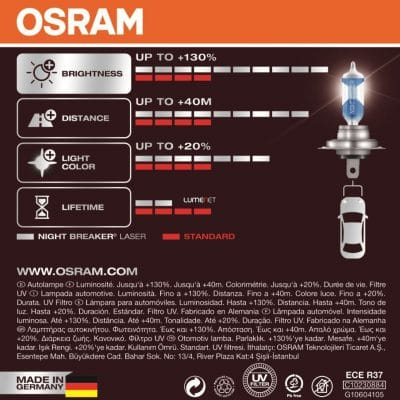 h7 osram night breaker laser